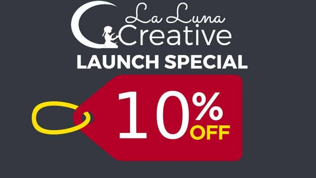 10% off small_ La Luna Creative