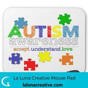 Autism Awareness Mouse Pad Design