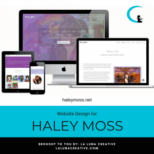Haley Moss Website Design Instagram